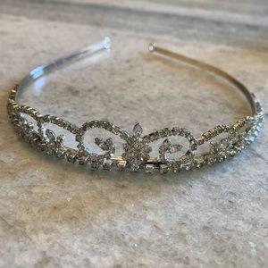 Betsey Johnson Crystal Tiara Headband